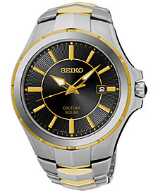 Seiko Men's Solar Coutura Two-Tone Stainless Steel Bracelet Watch 43mm SNE412