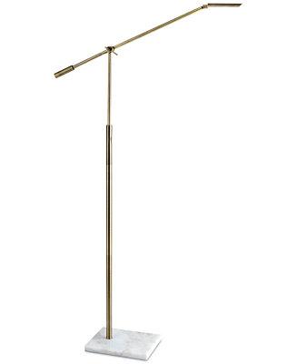 Adesso vera led swing arm floor lamp lighting lamps for Macy s torchiere floor lamp