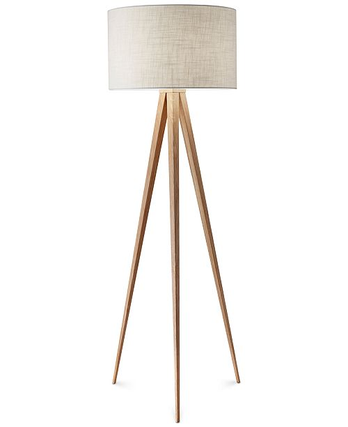muted in grey and tripod a floor h chicago lamp c brass