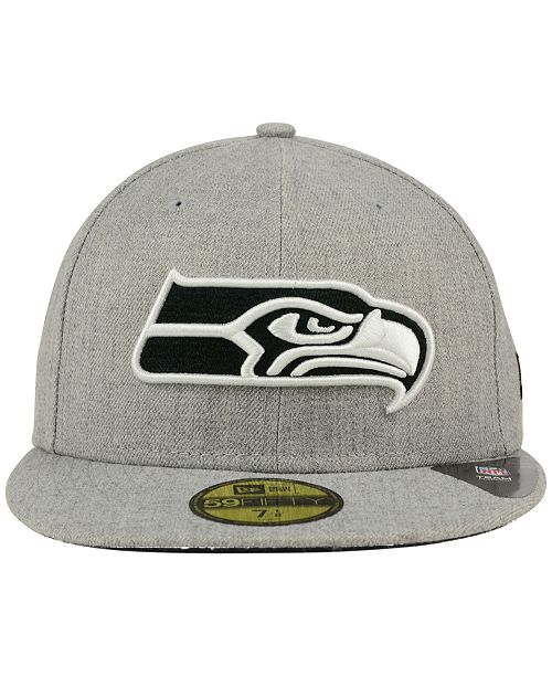 watch ca735 c8bb1 ... spain new era seattle seahawks heather black white 59fifty fitted cap  sports fan shop by lids