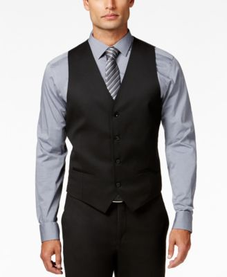 Men's Stretch Performance Solid Slim-Fit Vest, Created for Macy's