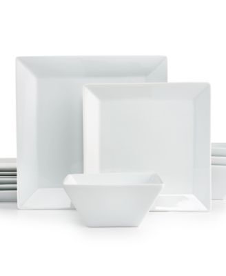 12-Piece Square Set Created for Macyu0027s  sc 1 st  Macyu0027s & The Cellar Whiteware Square Collection Created for Macyu0027s ...