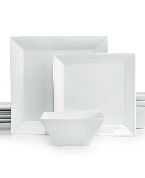 The Cellar 12-Piece Square Set, Created for Macy's