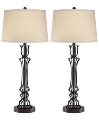 Pacific Coast Set Of 2 Wire Column Table Lamps, Created For Macyu0027s