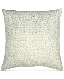 """Donna Karan Home Exhale 18"""" Square Embroidered Decorative Pillow"""