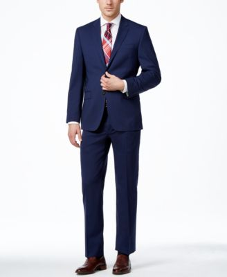 Lauren Ralph Lauren Navy Solid Total Stretch Slim-Fit Jacket ...