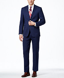 Lauren Ralph Lauren Navy Solid Total Stretch Slim-Fit Suit Separates