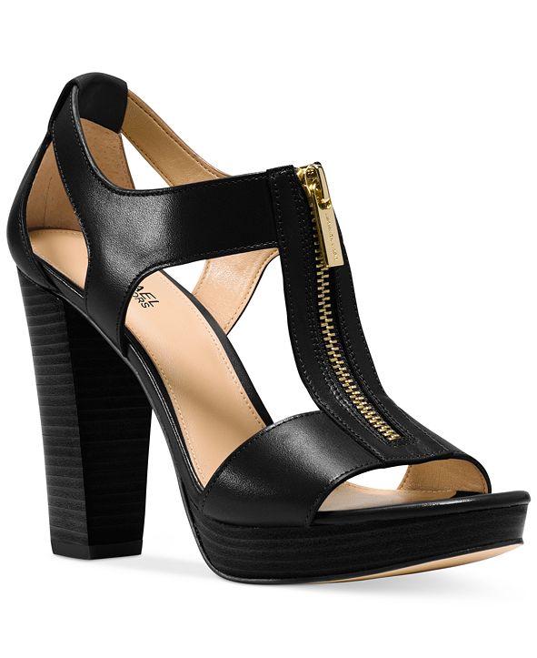 Michael Kors Berkley T-Strap Platform Dress Sandals