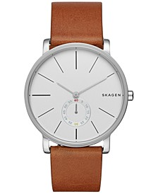 Men's Hagen Stainless Steel Brown Leather Watch 40mm