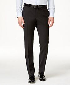 Men's Modern-Fit Black Suit Pants