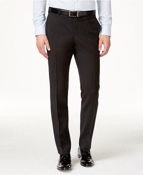 Hugo Boss HUGO Men's Black Classic-Fit Pants