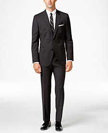 HUGO Men's Charcoal Slim-Fit Suit Separates