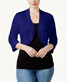 Plus Size Shrug Cardigan