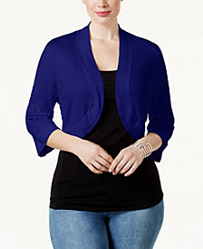 Jessica Howard Plus Size Shrug Cardigan