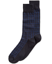 Perry Ellis Men's Houndstooth Plaid Socks