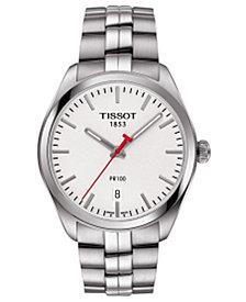 Tissot Men's Swiss NBA PR100 Stainless Steel Bracelet Watch 39mm T1014101103101