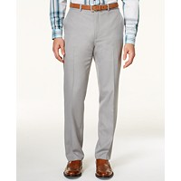 Deals on Alfani Flat-Front Slim-fit Herringbone Wrinkle-Resistant Pants