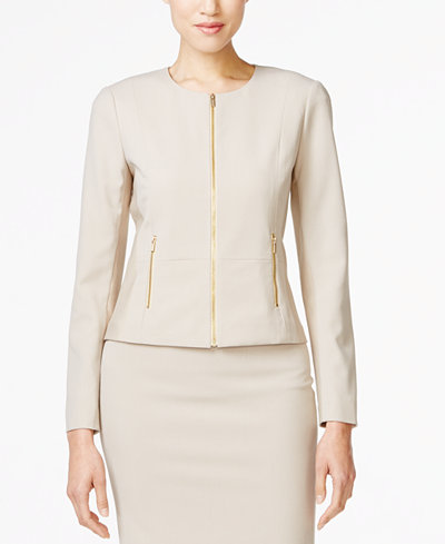 Calvin Klein Fit Solutions Zip-Front Side-Panel Jacket