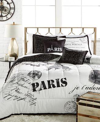 Paris 5-Pc. Comforter Sets - Bed in a Bag - Bed & Bath - Macy\'s