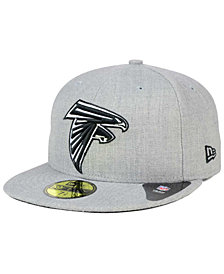 New Era Atlanta Falcons Heather Black White 59FIFTY Fitted Cap