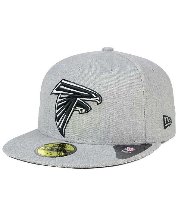 New Era Atlanta Falcons Heather Black White 59FIFTY Fitted Cap