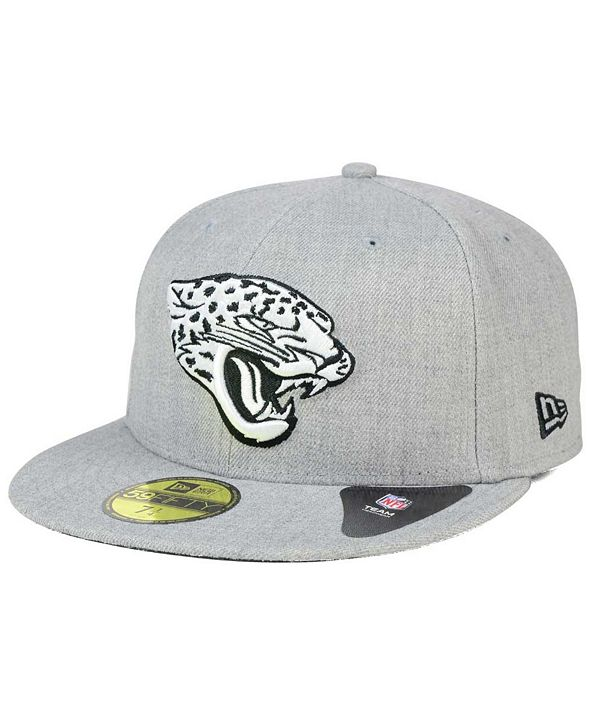 New Era Jacksonville Jaguars Heather Black White 59FIFTY Fitted Cap