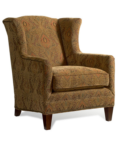 Madison Living Room Wing Chair - Furniture - Macy\'s