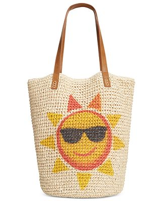 Style & Co. Sun Straw Beach Bag, Only at Macy's - Handbags ...