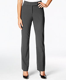 JM Collection Petite Tummy-Control Extend-Tab Curvy-Fit Pants, Created for Macy's