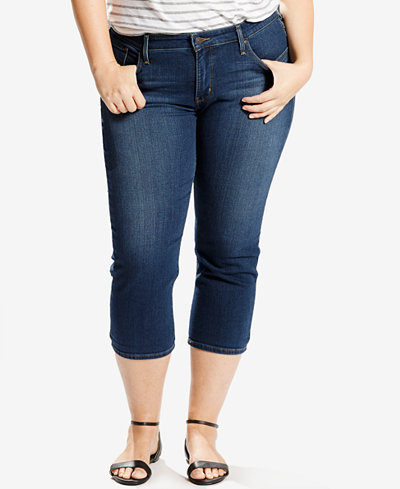 Levi S 174 Plus Size Shaping Capri Jeans Jeans Plus Sizes