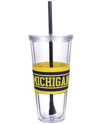Boelter Brands Michigan Wolverines 22 oz. Hyped Straw Tumbler