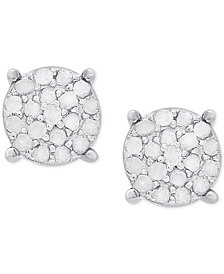 Victoria Townsend Diamond Cluster Stud Earrings (1/4 ct. t.w.) in Sterling Silver