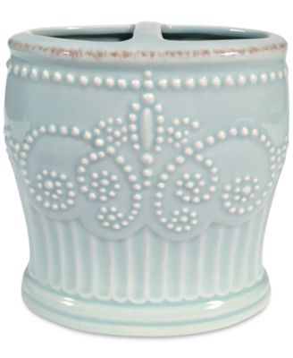 French Perle Groove Toothbrush Holder