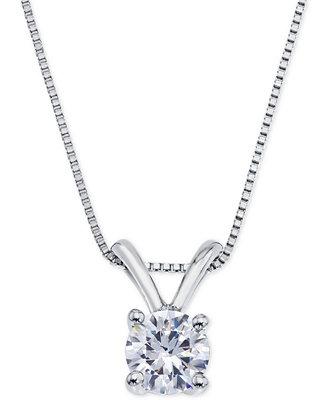 Certified Diamond Pendant Necklace (1/2 ct. t.w.) in 18k