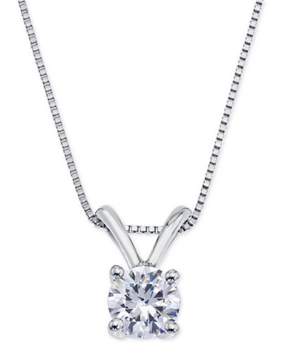 Certified Diamond Pendant Necklace (1/2 ct. t.w.) in 18k White Gold