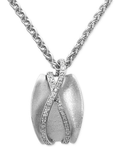 Balissima by EFFY Diamond Pendant Necklace (1/6 ct. t.w.) in Sterling Silver