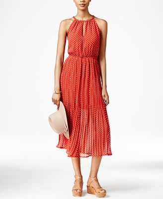 Maison Jules Polka-Dot Midi Dress, Only at Macy's