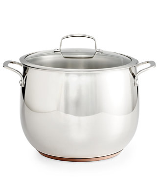 Belgique Copper Bottom 12 Qt Stockpot With Lid Created