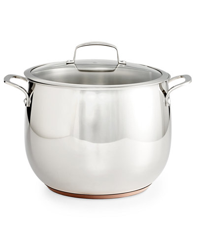 Belgique Copper Bottom 12-Qt. Stockpot with Lid, Created for Macy's