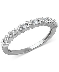 Diamond Crisscross Band (1/4 ct. t.w.) in 14k Rose, Yellow or White Gold