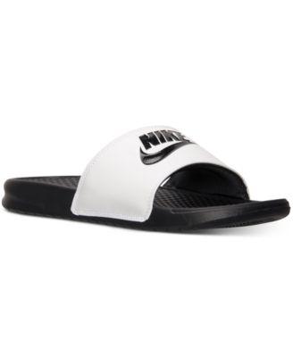 Nike Se Desliza Zapatos Blancos Para Hombre 100% garantizado los más valorados Comprar barato aL4j0H3i