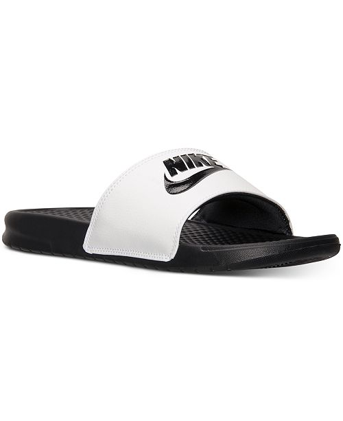 Nike Men s Benassi JDI Slide Sandals from Finish Line   Reviews ... 3017e2039