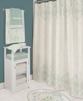 Bardwil Lenox French Perle Groove Shower Curtain Bed