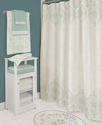 Sprinkled With Delicate Beaded Detailing The Fine And Fluted Earthenware Accessories Plus The Stylishly Scrolled Towels Shower Curtain And