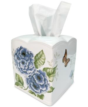 Lenox Blue Floral Garden Tissue Holder Bedding