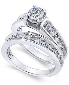 Certified Diamond Bridal Set (2 ct. t.w.) in 14k White Gold