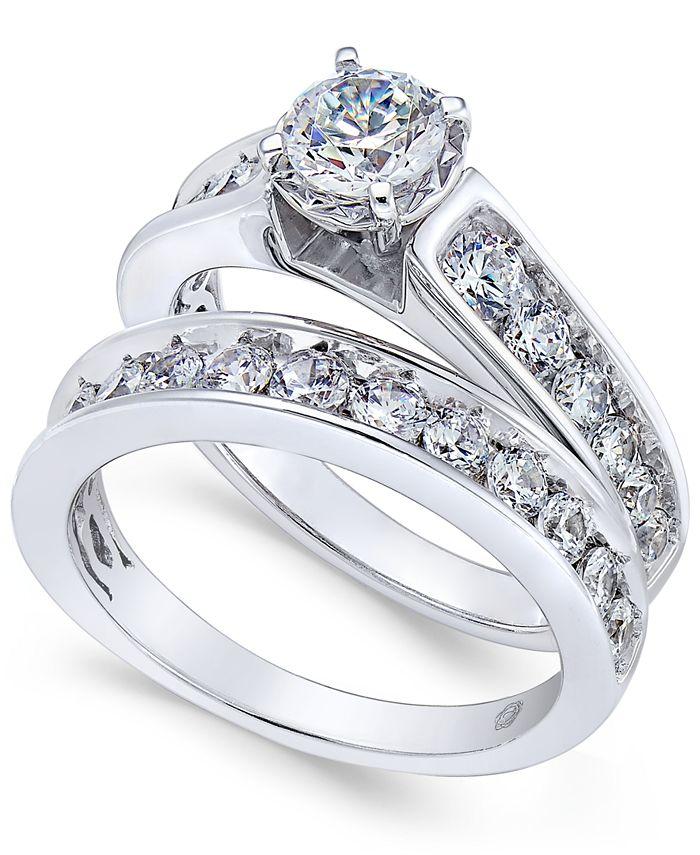 Macy's - Certified Diamond Bridal Set (2 ct. t.w.) in 14k White Gold