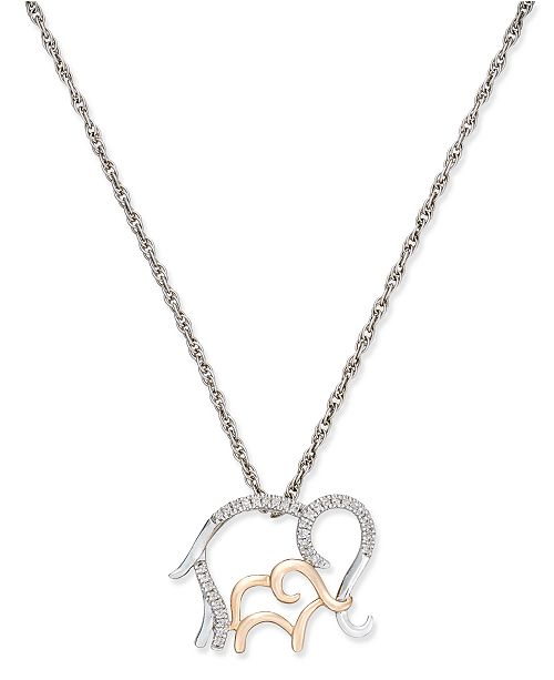 page chain for elephant product pendant tova qvc sterling com w diamonique wchain