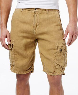 Lucky Brand Men's Linen Cargo Shorts - Shorts - Men - Macy's