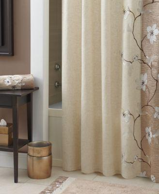 croscill magnolia collection shower curtain